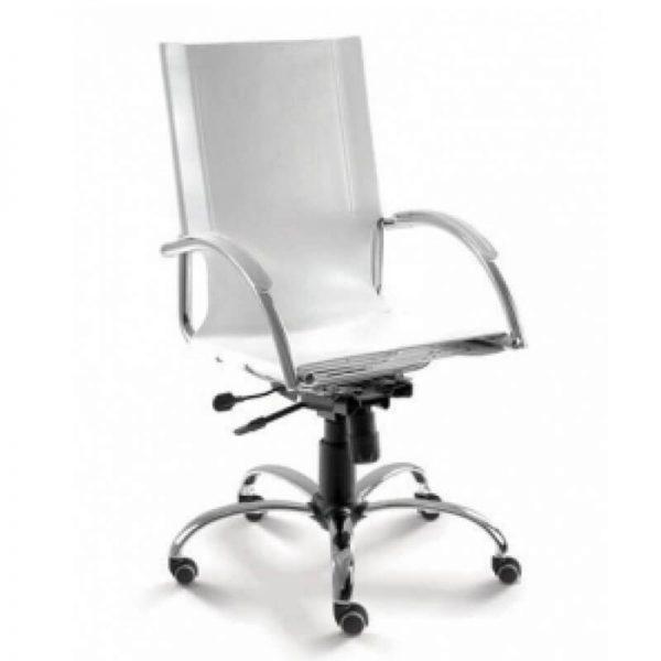 Cadeira presidente couro natural relax CHROMA
