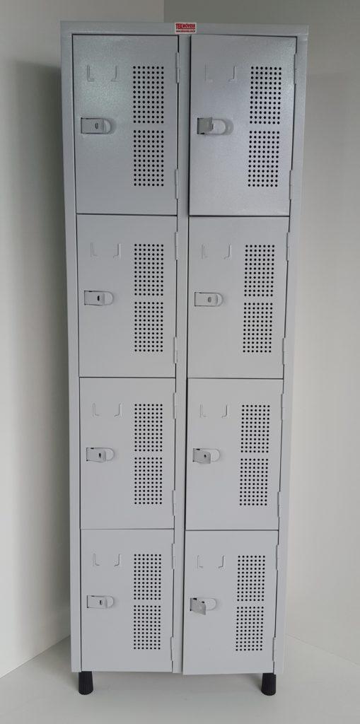 Armário vestiário com 08 portas pequenas