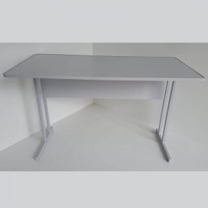 Mesa reta com suporte para teclado MDP 80cm Econômica
