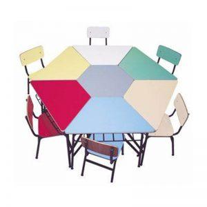Conjunto mesas flor
