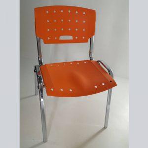 Cadeira fixa ISO COM 04 PÉS cromada