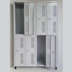 Armário vestiário em aço com 08 portas grandes